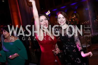 Rachel Felstein, Sara Dabney Tisdale. Photo by Tony Powell. 2017 Harman Center Gala. Building Museum. October 15, 2017