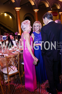 Jane Harman, Andrea Mitchell, Jack Diamond. Photo by Tony Powell. 2017 Harman Center Gala. Building Museum. October 15, 2017