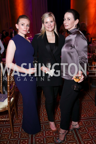 Meighan Fogarty, Trina Sams-Manning, Celine Robbins. Photo by Tony Powell. 2017 Harman Center Gala. Building Museum. October 15, 2017