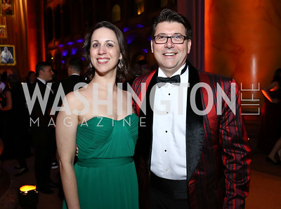 Rebecca Scott and Neal Racioppo. Photo by Tony Powell. 2017 Harman Center Gala. Building Museum. October 15, 2017
