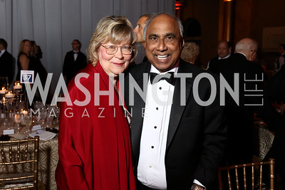 Debbie Driesman, Frank Islam. Photo by Tony Powell. 2017 Harman Center Gala. Building Museum. October 15, 2017