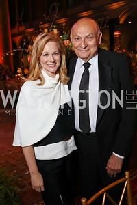Laura Linney, Michael Kahn. Photo by Tony Powell. 2017 Harman Center Gala. Building Museum. October 15, 2017
