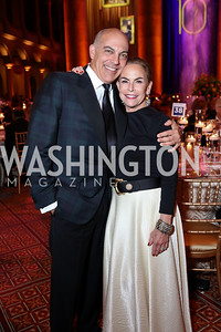 Jonathan Silver and Melissa Moss. Photo by Tony Powell. 2017 Harman Center Gala. Building Museum. October 15, 2017