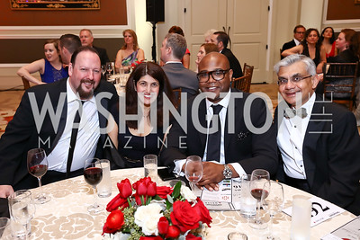 Sander Mueller, Monica Shah, Emil Hill, Tushar Patel. Photo by Tony Powell. 2017 Heart Ball. Mandarin Oriental. February 25, 2017