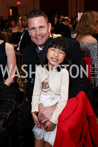 Jacques and Lily Rancourt. Photo by Tony Powell. 2017 Heart Ball. Mandarin Oriental. February 25, 2017