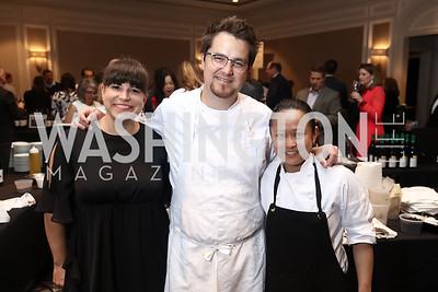 Cheryl Zimmerman, Alexander's Steakhouse Executive Chef Marc Zimmerman, Peggy Tan. Photo by Tony Powell. 2017 Heart's Delight. Ritz Carlton. May 13, 2017