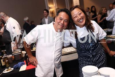 Slanted Door Owner Charles Phan, Michelle Mah. Photo by Tony Powell. 2017 Heart's Delight. Ritz Carlton. May 13, 2017