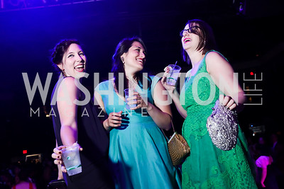 Jonelle Walker, Medha Marsten and Lauren Alexander. Photo by Tony Powell. 2017 Helen Hayes Awards After Party. 930 Club. May 15, 2017