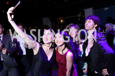 Justine Icy Moral, Karen Qi, Emma Cooley, Bryan Boyd. Photo by Tony Powell. 2017 Helen Hayes Awards After Party. 930 Club. May 15, 2017