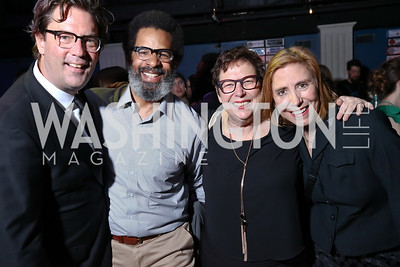 Kurt Crowl, Mike McIntyre, Amy Austin, Jeanette Buck. Photo by Tony Powell. 2017 Helen Hayes Awards After Party. 930 Club. May 15, 2017
