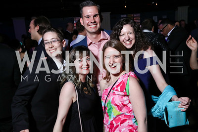 Heather Newhouse, Brieahn DeMeo, Isaac Evans, Sabrina Clark, Rachel Schlaff. Photo by Tony Powell. 2017 Helen Hayes Awards After Party. 930 Club. May 15, 2017