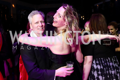 Kevin Wait, Jessica Hansen. Photo by Tony Powell. 2017 Helen Hayes Awards After Party. 930 Club. May 15, 2017