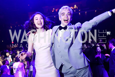Emma Sophie Moore, Henry Niepoetter. Photo by Tony Powell. 2017 Helen Hayes Awards After Party. 930 Club. May 15, 2017