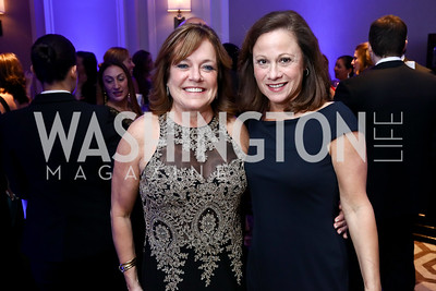 Deidre Adkins, Rhonda Milkovich. Photo by Tony Powell. 2017 Heroes Curing Childhood Cancer Gala. Ritz Carlton. February 25, 2017