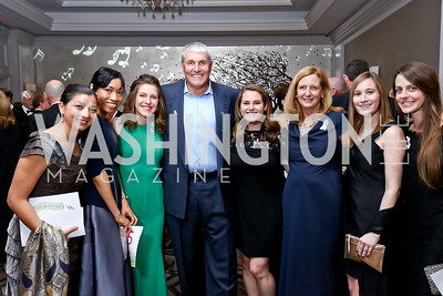 Clarissa Karlsson, Lisa Thaniel, Chelsea Baldwin, Mark Rypien, Allison Isaacson, Robin Stone, Meaghan Ervin, Stefanie Hayes. Photo by Tony Powell. 2017 Heroes Curing Childhood Cancer Gala. Ritz Carlton. February 25, 2017