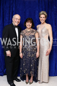 Kurt Newman, Second Lady Karen Pence, Elizabeth Kaufman. Photo by Tony Powell. 2017 Heroes Curing Childhood Cancer Gala. Ritz Carlton. February 25, 2017