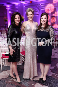 Heather Florence, Elizabeth Kaufman, Christina Gungoll Lepore. Photo by Tony Powell. 2017 Heroes Curing Childhood Cancer Gala. Ritz Carlton. February 25, 2017