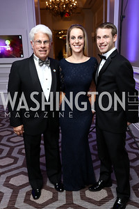 Floyd Davis, Melissa and Nick Samet. Photo by Tony Powell. 2017 Heroes Curing Childhood Cancer Gala. Ritz Carlton. February 25, 2017