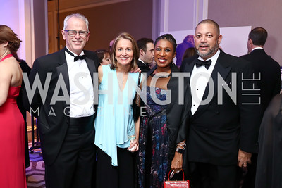 Nick Jones, Judy Graham, Tonya and Eugene Kinlow. Photo by Tony Powell. 2017 Heroes Curing Childhood Cancer Gala. Ritz Carlton. February 25, 2017