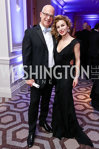 Matthew Nicely and Severina Mladenova. Photo by Tony Powell. 2017 Heroes Curing Childhood Cancer Gala. Ritz Carlton. February 25, 2017