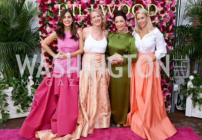 Kim Landrigan, Alex Roosenburg, Nina Rumbough, Denia Edmiston. Photo by Tony Powell. 2017 Hillwood Gala. June 6, 2017
