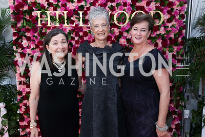 Shelley Wasserman, Kate Markert, Jill Barry. Photo by Tony Powell. 2017 Hillwood Gala. June 6, 2017