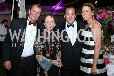 Michael Davidson, Barbara and Douglas Boggs, Nina Boggs. Photo by Tony Powell. 2017 Hillwood Gala. June 6, 2017
