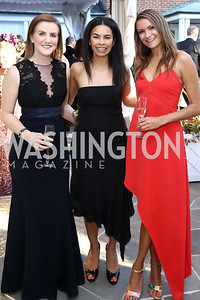 Brittany Bansak, Kheira Benkreira, Stacy Hadeka. Photo by Tony Powell. 2017 Hillwood Gala. June 6, 2017