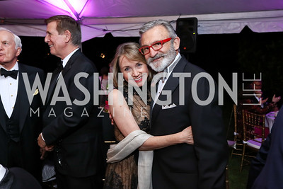 Megan Beyer, Joe Perta. Photo by Tony Powell. 2017 Hillwood Gala. June 6, 2017