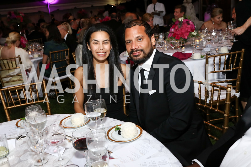 Kheira Benkreira, Chris Duffus. Photo by Tony Powell. 2017 Hillwood Gala. June 6, 2017