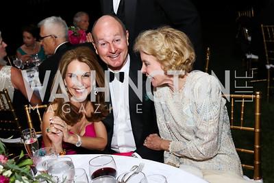 Suzi Cordish, HRH Prince Dimitri of Yugoslavia, Ann Nitze. Photo by Tony Powell. 2017 Hillwood Gala. June 6, 2017