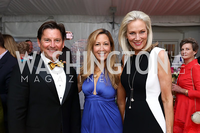Joe Ruzzo, Dina Mackney, Cynthia Steele Vance. Photo by Tony Powell. 2017 Hillwood Gala. June 6, 2017