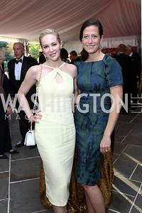 Louise Linton, Maggie Cordish. Photo by Tony Powell. 2017 Hillwood Gala. June 6, 2017