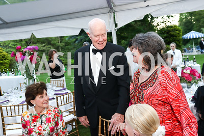 Sally Chapoton, Thor Halvorson, Carol Schwartz, Shannon Fairbanks. Photo by Tony Powell. 2017 Hillwood Gala. June 6, 2017