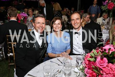 Sam Reid, Judith and Nico Landrigan. Photo by Tony Powell. 2017 Hillwood Gala. June 6, 2017