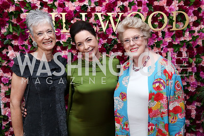 Kate Markert, Nina Rumbough, Ellen Charles. Photo by Tony Powell. 2017 Hillwood Gala. June 6, 2017