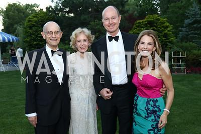 Bill and Ann Nitze, HRH Prince Dimitri of Yugoslavia, Suzi Cordish. Photo by Tony Powell. 2017 Hillwood Gala. June 6, 2017
