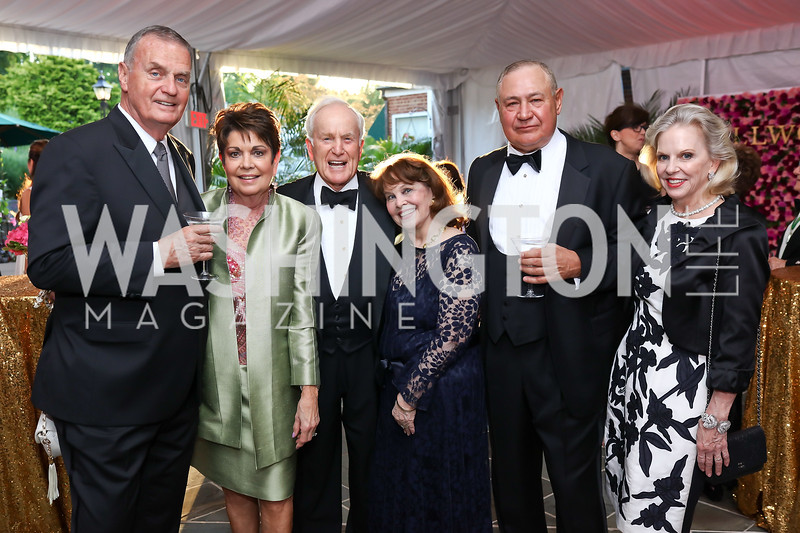 Gen. Jim Jones and Diane Jones, Lloyd and Ann Hand, Gen. Chuck Wald and Marilyn Wald. Photo by Tony Powell. 2017 Hillwood Gala. June 6, 2017