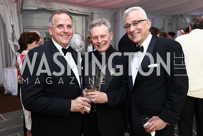 Ed McAllister, Michael Beckman, Joseph Carpenter. Photo by Tony Powell. 2017 Hillwood Gala. June 6, 2017