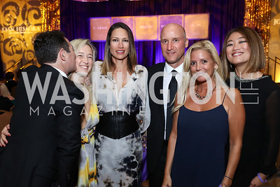 "John Mason, Anna Mason, Sarah Kimsey, Mark Kimsey, Victoria Michael, Pamela Sorensen. Photo by Tony Powell. 2017 Joan Hisaoka ""Make a Difference"" Gala. Omni Shoreham. September 16, 2017"