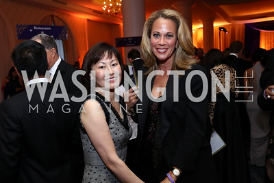 "Janice Kim, Patricia Howell. Photo by Tony Powell. 2017 Joan Hisaoka ""Make a Difference"" Gala. Omni Shoreham. September 16, 2017"