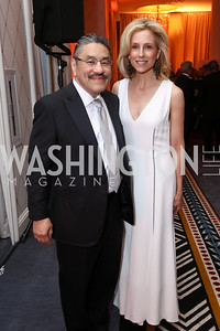 "Bob Hisaoka, Katherine Bradley. Photo by Tony Powell. 2017 Joan Hisaoka ""Make a Difference"" Gala. Omni Shoreham. September 16, 2017"