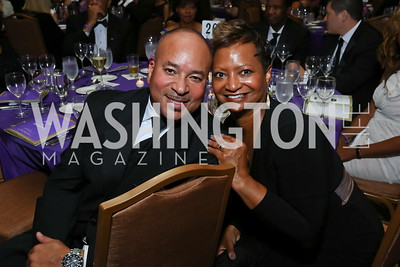 "Dan and Kim Randle. Photo by Tony Powell. 2017 Joan Hisaoka ""Make a Difference"" Gala. Omni Shoreham. September 16, 2017"