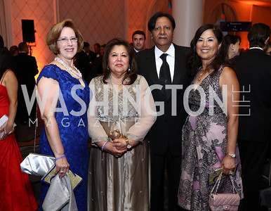 "Pat Moynihan, Shaista and Ray Mahmood, Tina Mather. Photo by Tony Powell. 2017 Joan Hisaoka ""Make a Difference"" Gala. Omni Shoreham. September 16, 2017"