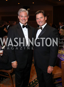 "Mark Lowham and Joe Ruzzo. Photo by Tony Powell. 2017 Joan Hisaoka ""Make a Difference"" Gala. Omni Shoreham. September 16, 2017"