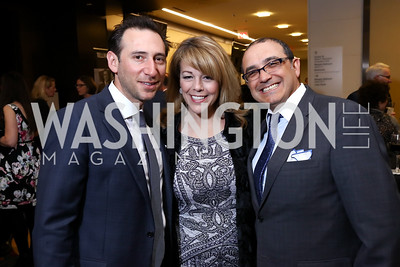 Ezra Weinblatt, Michelle and Avi Benaim. Photo by Tony Powell. 2017 Holocaust Museum National Tribute Dinner. Marriott Marquis. April 24, 2017