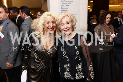 Meryl Shapiro, Susan Warsinger. Photo by Tony Powell. 2017 Holocaust Museum National Tribute Dinner. Marriott Marquis. April 24, 2017