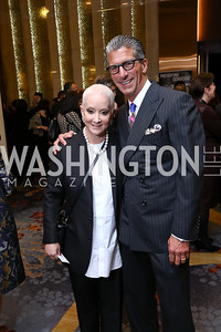 Elise and Marc Lefkowitz. Photo by Tony Powell. 2017 Holocaust Museum National Tribute Dinner. Marriott Marquis. April 24, 2017