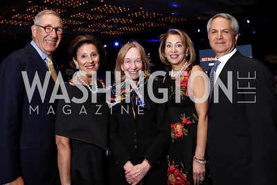 Larry and Melanie Nussdorf, Nancy and Mark Duber. Photo by Tony Powell. 2017 Holocaust Museum National Tribute Dinner. Marriott Marquis. April 24, 2017