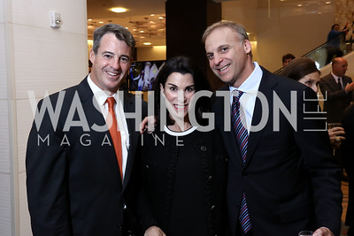 Doug Gansler, Tracy and Adam Bernstein. Photo by Tony Powell. 2017 Holocaust Museum National Tribute Dinner. Marriott Marquis. April 24, 2017